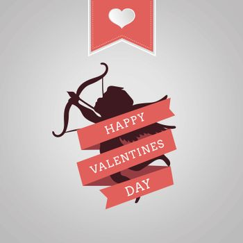 Happy Valentines Day vector with cupid