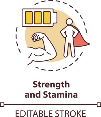 Strength and stamina concept icon