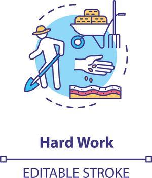 Hard work concept icon