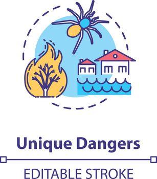 Unique dangers concept icon