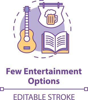 Few entertainment options concept icon