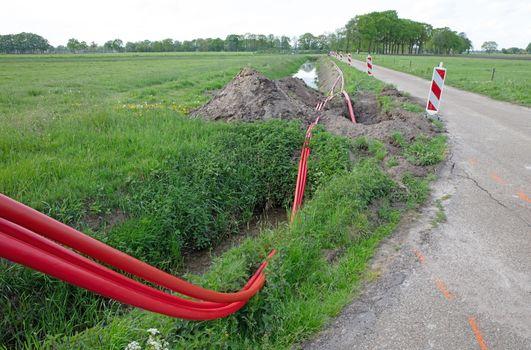 Installation of underground cable