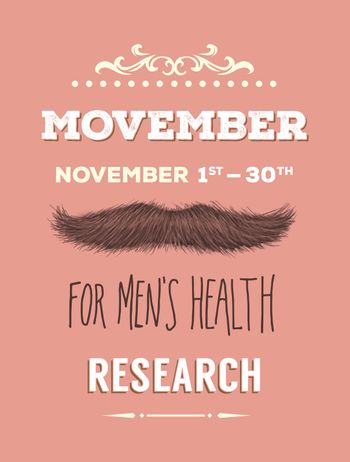 Movember advertisement vector with text