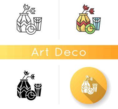 Art deco style icon