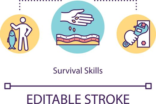 Survival skills concept icon