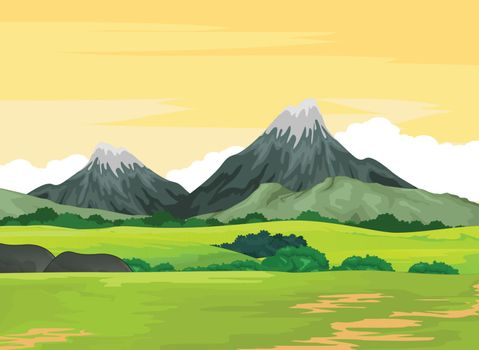 Landscape Mountain View Background