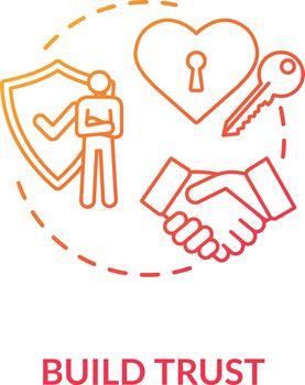 Build trust concept icon
