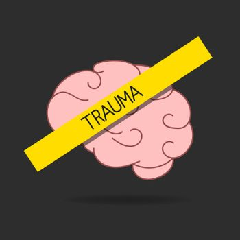 Mental Disorder Icon. Brain Disease, Trauma, Dementia. Alzheimer Concept. Vector Illustration Can Be Used For Topics Like Psychology, Mental Health, Medicine