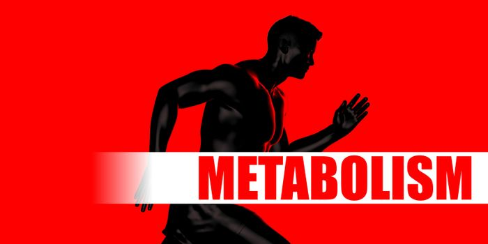 Metabolism Concept with Fit Man Running Lifestyle