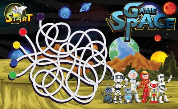 Game Space With Outer Space Background
