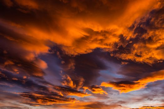 Bloody orange clouds