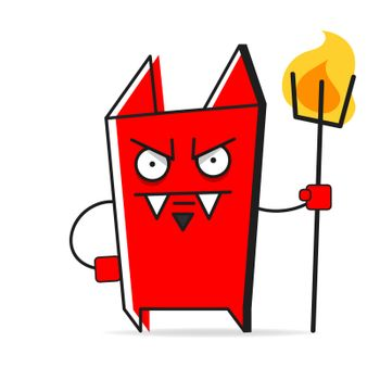 Imp On A White Background, Vector Illustration Suitable For Greeting Card, Poster Or T-shirt Printing.