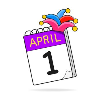 April Fool's Day Is The First Of April Calendar. Jokes, Laughter, Fools. Illustration