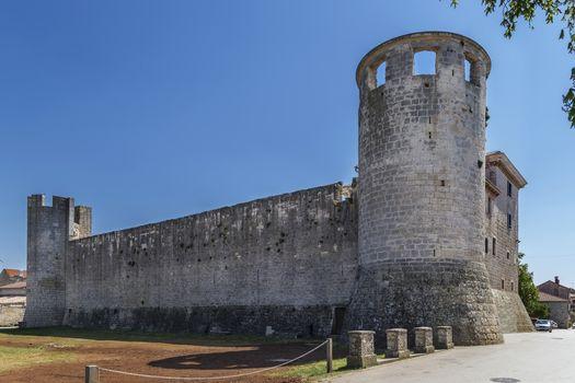 Morosini-Grimani stone castle in Svetvincenat, Istria, Croatia
