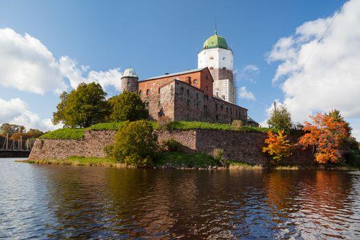 St Olov castle, medieval Swedish castle in Vyborg, Russia