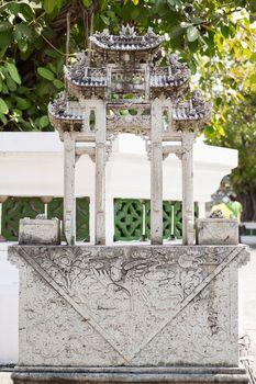 Buddhism symbolic sculpture. Royal Palace, Bangkok, Thailand.