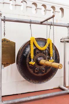 Sacral bell in Wat Saket Ratcha Wora Maha Wihan (the Golden Mount). Bangkok, Thailand.