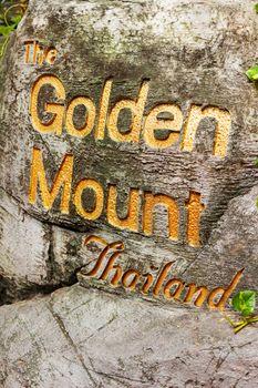 Model of Wat Saket Ratcha Wora Maha Wihan (the Golden Mount). Bangkok, Thailand.