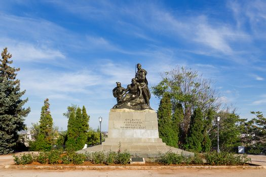 Monument to the courage of young Communists. Sevastopol, Crimea, Russia.