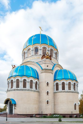 The Church of the Holy Trinity in honor of the Millennium of the baptism of Russia. Moscow, Russia.