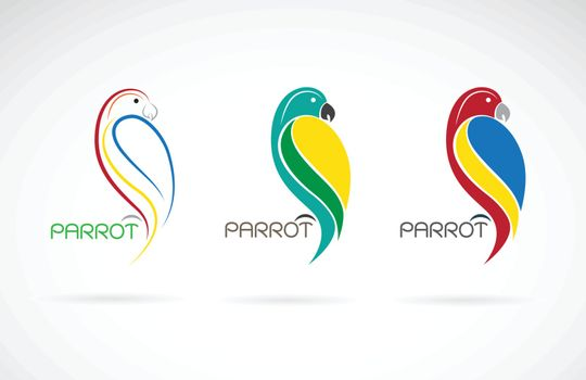 Vector of a parrot design on white background., Bird Icon., Wild Animals. Easy editable layered vector illustration.