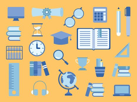 School supplies educational accessories vector. Illustration about education.