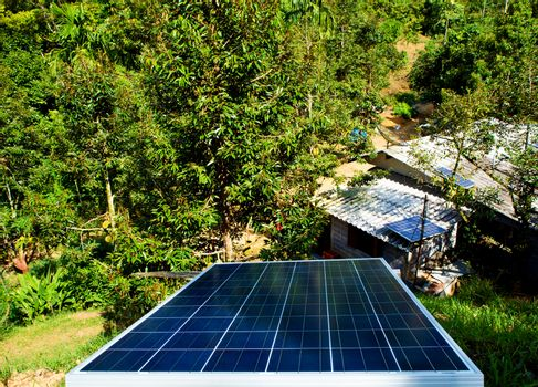 Small solar panel install on hill