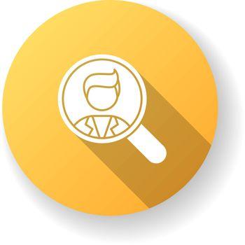 Vacancy yellow flat design long shadow glyph icon