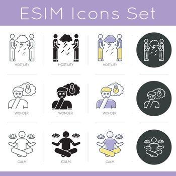 Emotion icons set