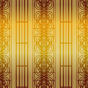 shiny golden wallpaper pattern with elegant and ornate geometric tracery