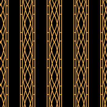 simple geometric striped black and gold ornament or wallpaper pattern