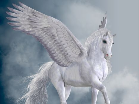 The Pegasus horse is a magical winged creature who is legendary from Greek mythology.