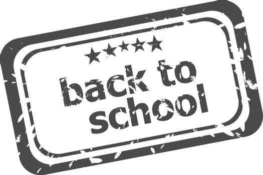back to school grunge rubber stamp isolated on white background