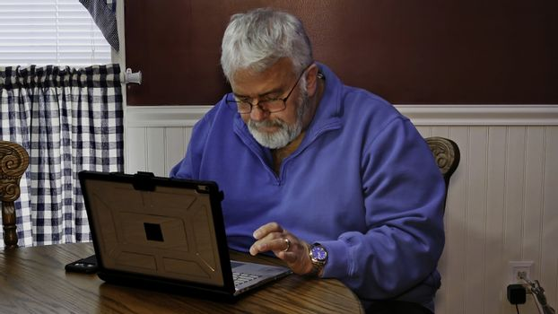 Senior Citizen Upset and Mad at Using a Computer and Technology Senior Citizen Upset and Mad at Using a Computer and Technology