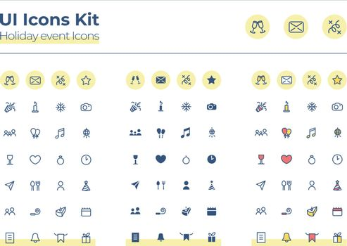 Holiday events UI icons kit