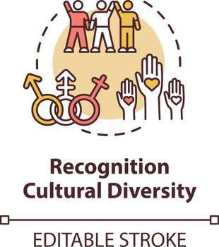 Cultural diversity recognition concept icon