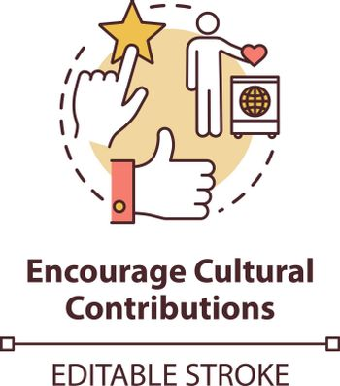 Encourage cultural contribution concept icon