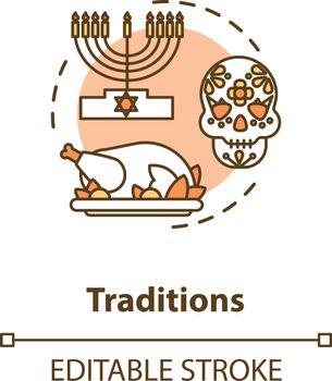 Tradition concept icon