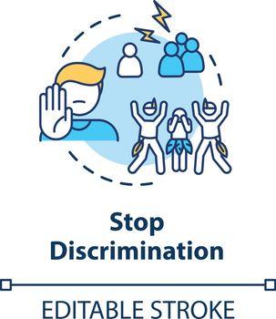 Stop discrimination concept icon