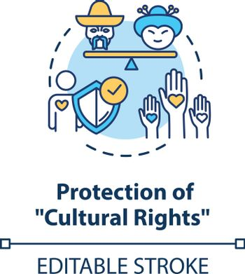 Protection of cultural rights concept icon