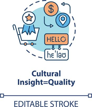 Cultural insight concept icon