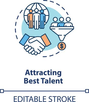 Attracting best talent concept icon