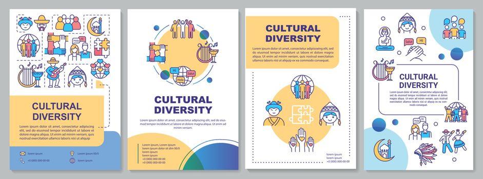 Cultural diversity brochure template