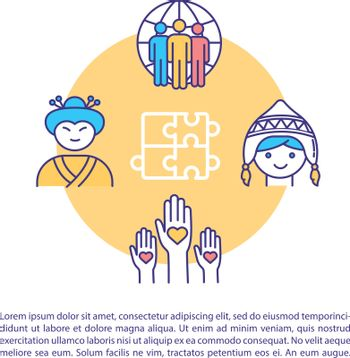 Cultural diversity concept icon with text