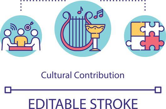 Cultural contribution concept icon