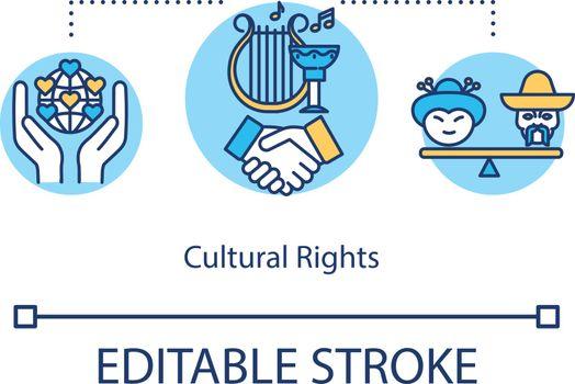 Cultural rights concept icon