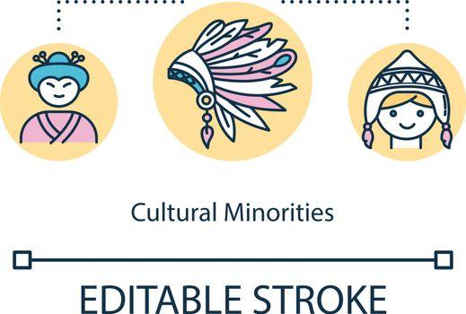 Cultural minorities concept icon