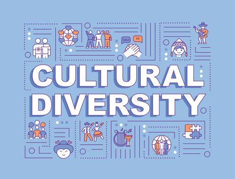 Cultural diversity word concepts banner