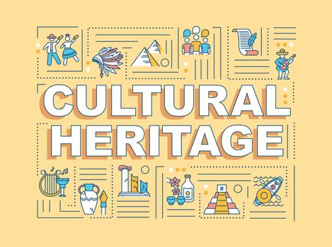 Cultural heritage word concepts banner