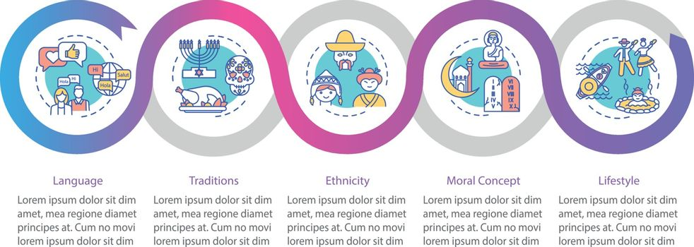 Cultural diversity vector infographic template